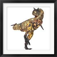 Framed Angry Carnotaurus dinosaur