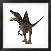 Framed Spinosaurus dinosaur