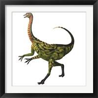 Framed Deinocheirus, a large carnivorous dinosaur