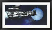 Framed exploratory spaceship from Earth comes to investigate the planet of Neptune
