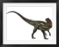 Framed Allosaurus, a prehistoric era dinosaur
