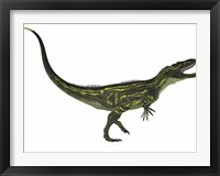 Framed Torvosaurus, a large theropod dinosaur from the Jurassic Period