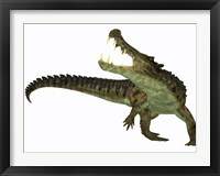 Framed Kaprosuchus is an extinct genus of crocodile