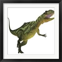 Framed Yangchuanosaurus, a theropod dinosaur from the Jurassic Period