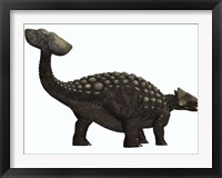 Framed Ankylosaurus, a heavily armored dinosaur from the Cretaceous Period