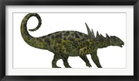 Sauropelta was a heavily armored dinosaur from the Cretaceous Period Framed Print