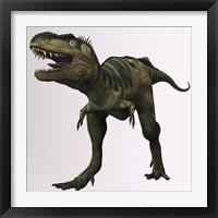 Framed Bistahieversor sealeyi dinosaur of the Cretaceous Period