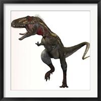 Framed Nanotyrannus dinosaur