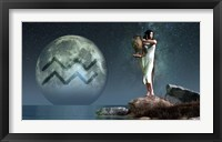 Framed Aquarius is the eleventh astrological sign of the Zodiac