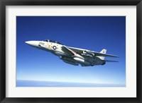 Framed US Navy F-14A Tomcat in flight