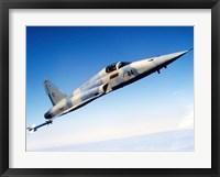Framed F-5E Tiger II in flight