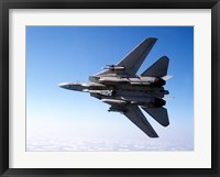 Framed F-14A Tomcat with missile armament