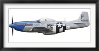 Framed P-51D Mustang assigned to the 328th Fighter Squadron