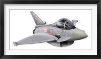 Framed Cartoon illustration of a Royal Air Force Eurofighter Typhoon
