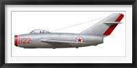 Framed MiG-15bis of the North Korean Air Force