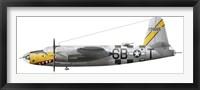 Framed Illustration of a Martin-B-26 Marauder