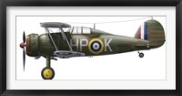 Framed Gloster Gladiator Mk II