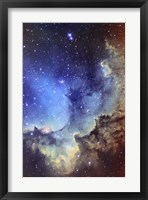 Framed NGC 7380 Emission Nebula in Cepheus