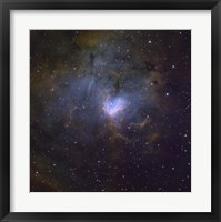 Framed NGC 1491, an emission nebula in the constellation of Perseus