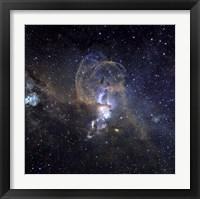 Framed Loops of NGC 3576