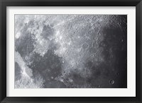 Framed Close up view of the Moon