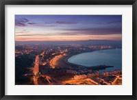 Framed MOROCCO, AGADIR, Boulevard Mohammed V, Coastline