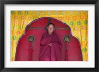 Framed Monks in Sakya Monastery, Tibet, China
