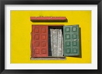 Framed Madagascar, Colorful window, near Antananarivo
