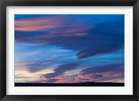 Framed Blue Desert clouds, sunset, MOROCCO