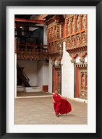 Framed Monk at Punakha Dzong, Punakha, Bhutan