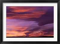 Framed Pink Desert clouds, sunset, MOROCCO