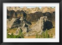 Framed Madagascar, Isalo National Park, Eroded sandstone