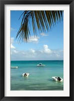 Framed Mauritius, Grand Baie, Boats anchored in Grand Baie