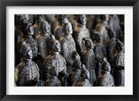 Framed Imperial terra cotta warriors in battle formation