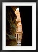 Framed Jordan, Petra, Jordan's Treasury, Ancient Architecture