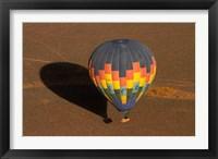 Framed Hot air balloon over Namib Desert, near Sesriem, Namibia, Africa.