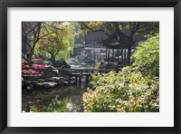 Framed Landscape of Traditional Chinese Garden, Shanghai, China