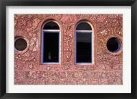 Framed Inlaid Shells Adorn Restaurant Walls, Morocco
