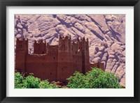 Framed Kasbah and Unique Rock Formation, Morocco