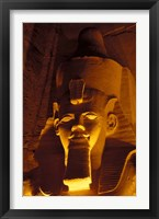 Framed Lighted Face at the Great Temple of Ramesses II, Egypt