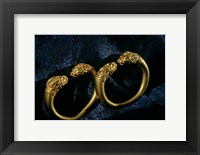 Framed Horned Lion Head Bracelets, Gold Artifacts From Tillya Tepe Find, Six Tombs of Bactrian Nomads