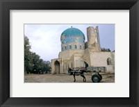 Framed Masjid Sabz, the Green  Mosque in Balkh, Afghanistan