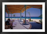 Framed Hotel Coral Hilton Restaurant on the Red Sea, Egypt