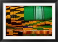 Framed Kente Cloth, Artist Alliance Gallery, Accra, Ghana