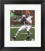 Framed Johnny Manziel 2014 with the ball