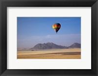 Framed Hot air balloon over Namib Desert, Africa