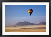 Framed Hot air balloon over Namib Desert, Africa