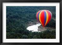 Framed Kenya, Maasai Mara, Mara River, Hot-Air Ballooning