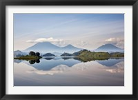 Framed Lake Mutanda near Kisoro, Virunga Volcanoes, Uganda