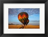 Framed Launching hot air balloons, Namib Desert, near Sesriem, Namibia